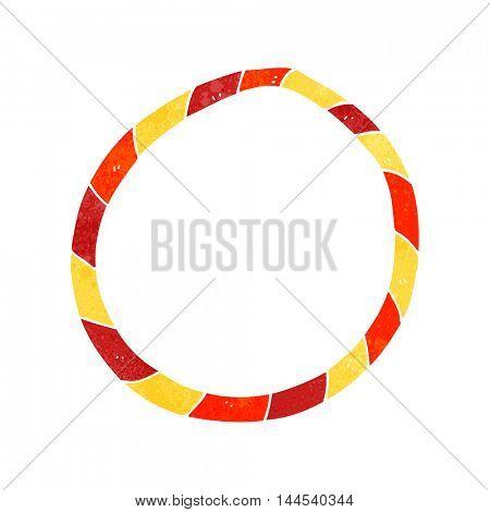 freehand retro cartoon hula hoop
