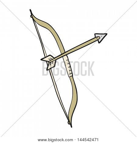 freehand drawn cartoon bow and arrow