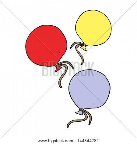 freehand drawn cartoon balloons