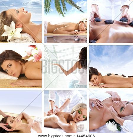 Collage made of some spa pictures
