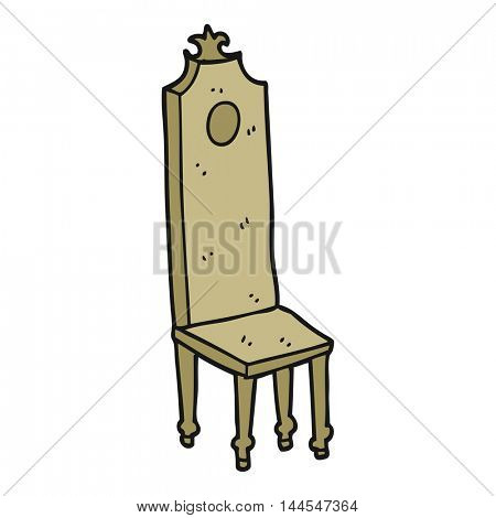 freehand drawn cartoon fancy chair
