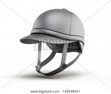 Jockey Equestrian Helmets. 3D Rendering.