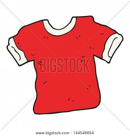 freehand drawn cartoon t shirt
