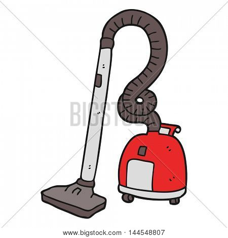 freehand drawn cartoon vacuum cleaner