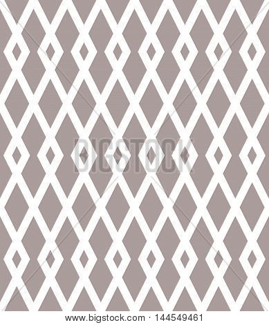 Geometric vector seamless pattern with white rhombuses.