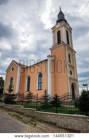 Romanian Greek Catholic Church in Miercurea Sibiului town in Romania