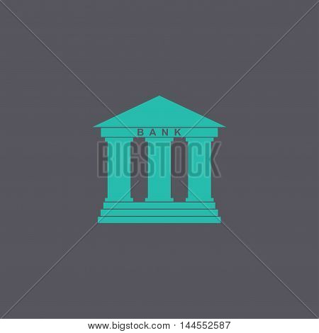 Bank Icon. Modern Design Flat Style
