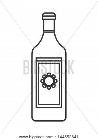 flat design tequila bottle icon vector illustration