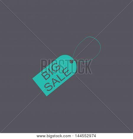 Tag Icon, Vector Illustration. Flat Design Style