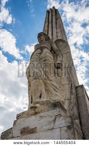 Horea Closca and Crisan Obelisk in Citadel of Alba Iulia city in Romania
