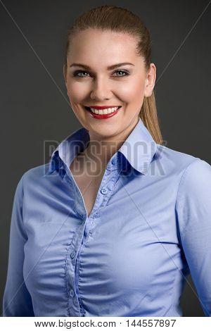 Portrait of beautiful smiling businesswoman