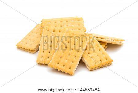 cracker sandwich crisp food on a white background