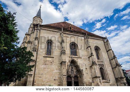 St. Michael's Church in Cluj-Napoca city in Romania