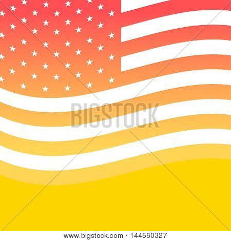 Happy Independence Day greeting card. 4th of July vector design element. Independence Day background with waving US flag