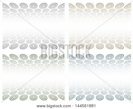 3d abstract background with circles texture