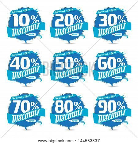 Percent discount sign icon.Sale symbol business badge Special offer label vector illustration