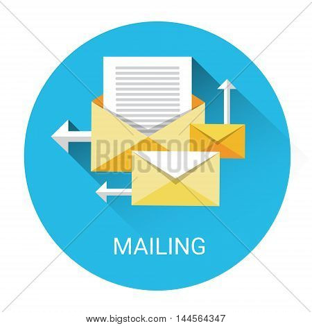Dialog Mail Communication Business Icon Flat Vector Illustration