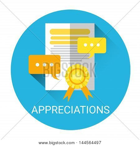 Appreciations Business Evaluation Icon Flat Vector Illustration