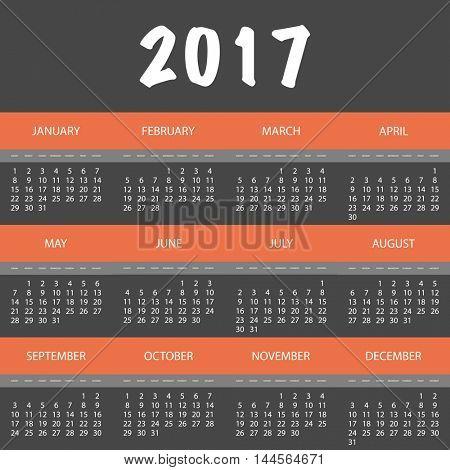 2017 Colorful Full Year Calendar Design