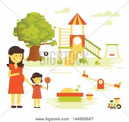 Family-children-playground