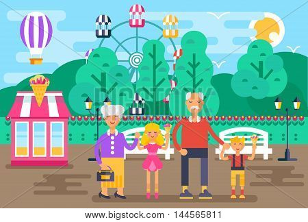 The Illustration For National Grandparents Day