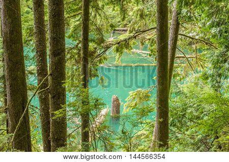 Majestic mountain lake in Canada. Hayward Lake in British Columbia, Canada.