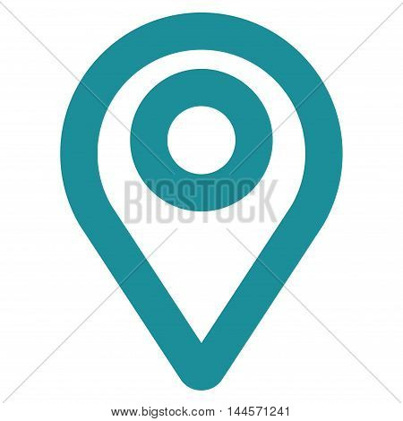 Map Pointer vector icon. Style is stroke flat icon symbol, soft blue color, white background.