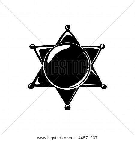 sheriff star isolated on white. Vector Illustration