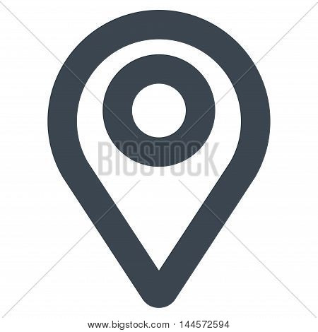 Map Pointer vector icon. Style is stroke flat icon symbol, smooth blue color, white background.