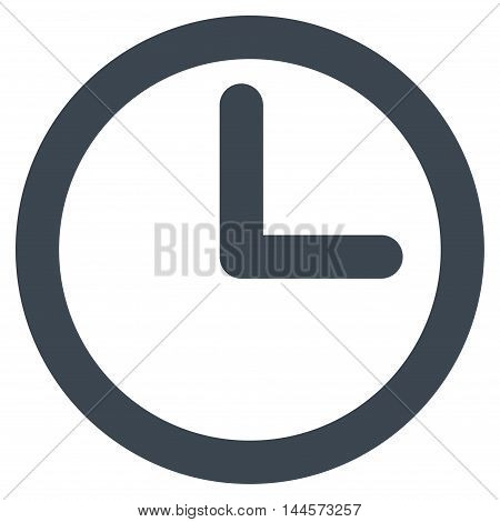 Time vector icon. Style is stroke flat icon symbol, smooth blue color, white background.
