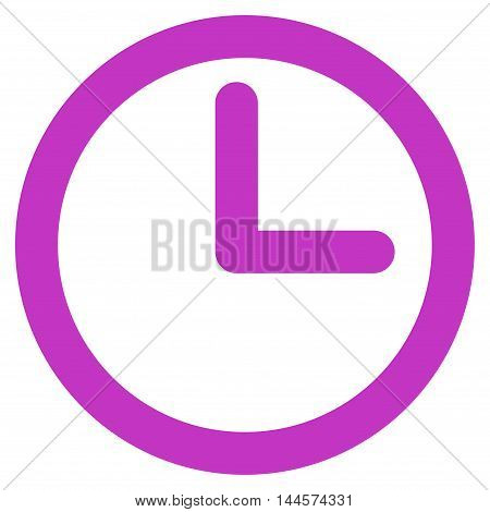 Time vector icon. Style is linear flat icon symbol, violet color, white background.