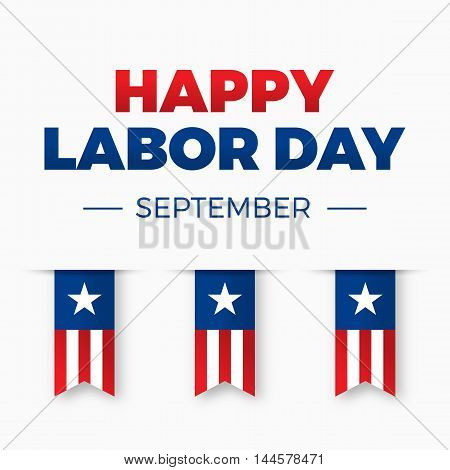 Happy Labor day, Holiday in United States of America celebrated on first monday in September, vector illustration