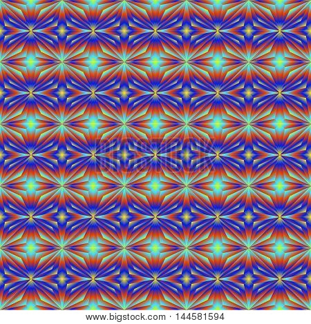 Pattern tiles in bright colors of the stars. Color Gradient Tile film or oilcloth.