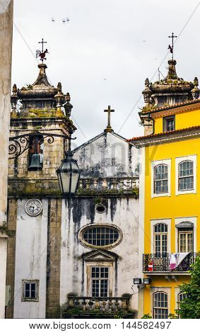 Igreja do Carmo Convent Church Medieval City Coimbra Portugal. Church founded in 1597