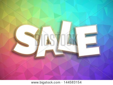 Super sale graphics design vector, abstract colorful polygon background