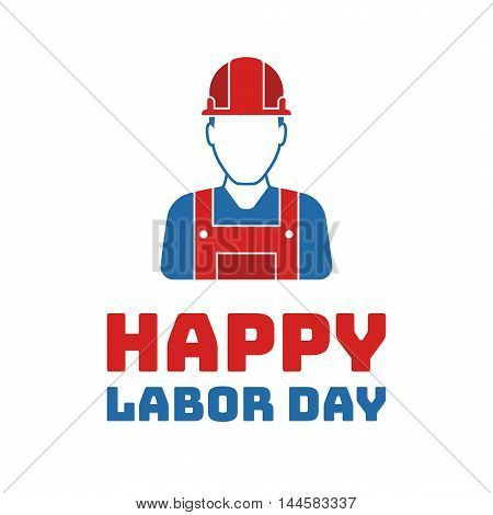 Labor day worker graphics, Holiday in United States celebrated on first monday in September, vector illustration