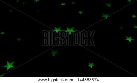 green glowing stars back ground back drop