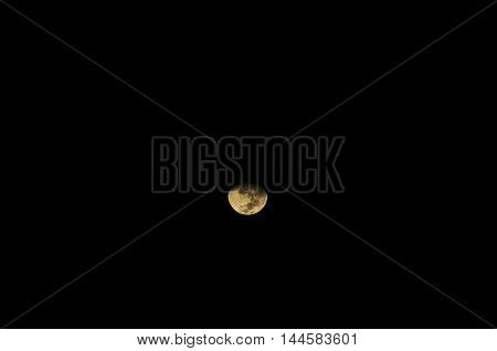 Colors Of The Moon At Night