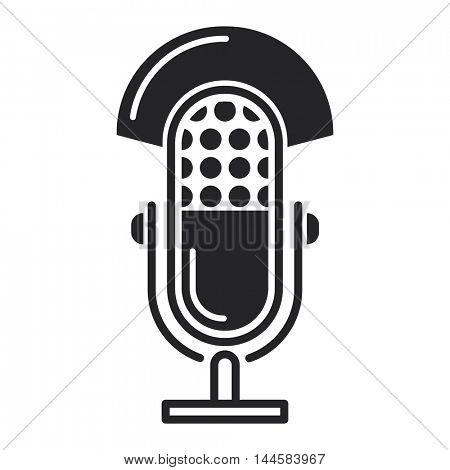 Microphone vector icon illustration