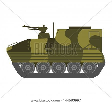 Tank isolated vector illustration.
