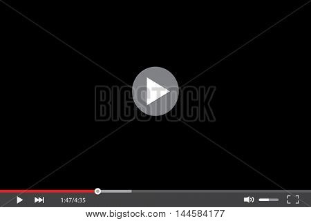 Video player skin vector illustration