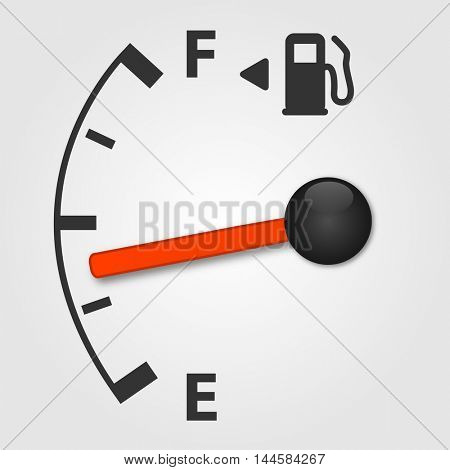 Gas tank illustration on a white background