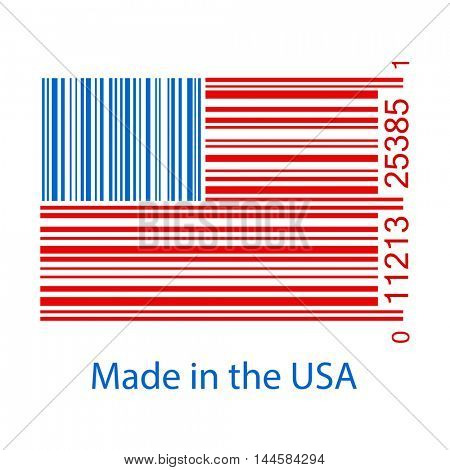 Made in USA Bar Code Illustration