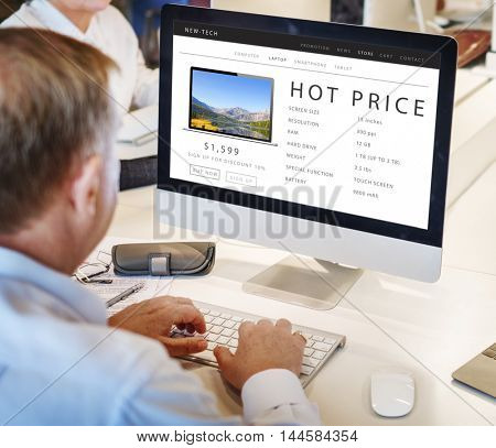 Hot Price Shopping Online Internet Website Concept