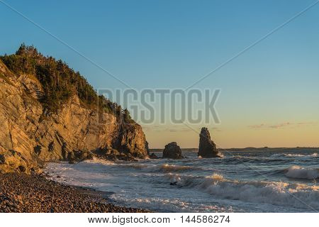 Ocean shore (Cabot Trail Cape Breton Nova Scotia Canada)