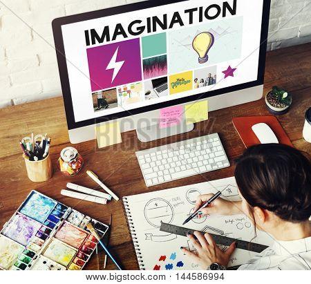Drawing Graphic Designer imagination Concept