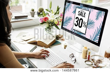 Sale Discount Promotion Marketing Graphic Concept
