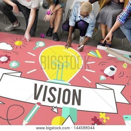 Vision Ideas Inspiration Imagination Creation Concept