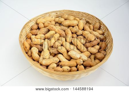 Light Room shooting bamboo basket full of peanut