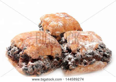 image scene sweet baked buns with raisins